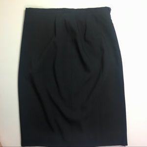 Giorgio Armani Dark Gray Wool Pencil Skirt